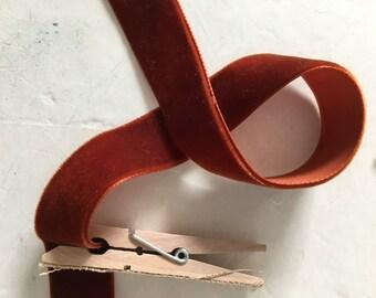 Vintage Velvet Rust ribbon