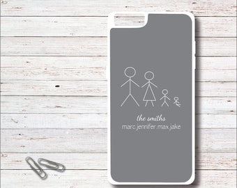Stick Figure Phone Case, Stick Figure Family, Personalized Phone Case, Stick Figure Phone Case, iPhone Case, Mother's Day Gift, Family
