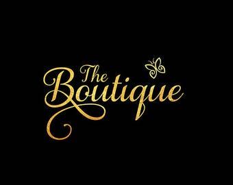 Gold Foil, Premade Logo, Gold Foil Logo, Gold Logo, Logo Design, Business Logo, Photography Logo, Logo, Watermark Logo, Butterfly Logo, .
