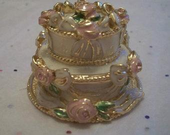 Estée Lauder perfume compact rare party cake ~ Gorgeous