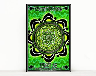 PHISH Poster - Greatwoods Mansfield, MA 2010