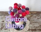 Custom Listing for Amy - Pom pom flowers with vase