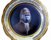Sir Anthony Rossi of Gorillini - Altered Antique Plate 8""