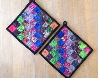 Pair of Patchwork Potholders