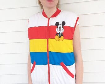 Mickey Mouse Vest Walt Disney Co M Reversible
