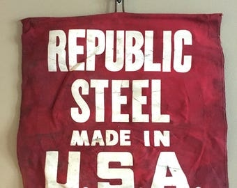 Vintage Republic Steel Flag Sign