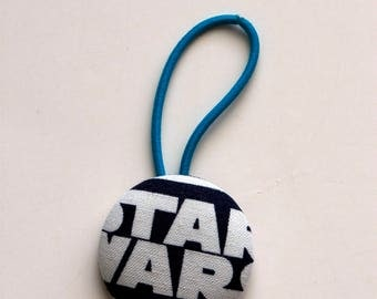 Star Wars Fabric Covered Giant Button Ponytail Holder