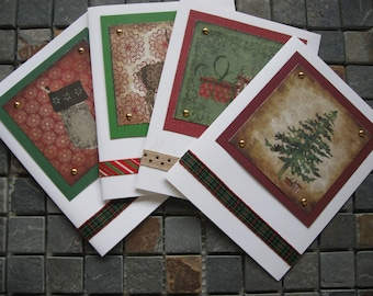 rustic christmas cards set