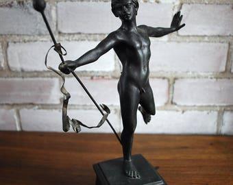 Victorian Faun Bronze male nude figure