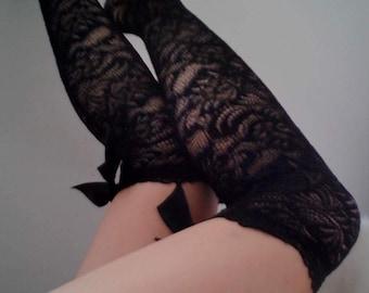 overknee black lace