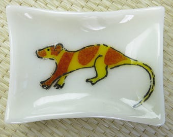 Water Opossum Yapok Chironectes minimus Fused Glass Dish
