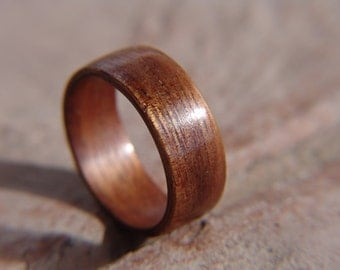 Custom crafted Ring using bent wood process made from Koa wood