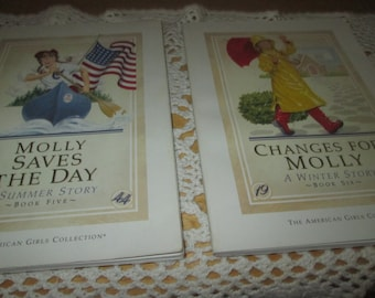 Molly American Girls Collection Books and Slip Container with Silk Ribbon