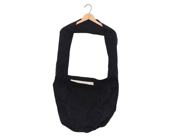 QMC Wide Strap Canvas News Paper Bag - Black