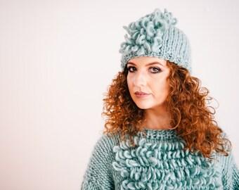 Mohawk Beanie Knit Hat