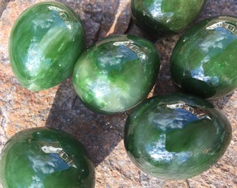 FLAWLESS Rare Gem quality Genuine Solid Nephrite Jade Crystal Medium Undrilled