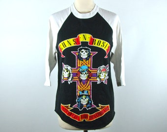 Guns N Roses Baseball Tee, PERFECT CONDITION, Appetite for Destruciton