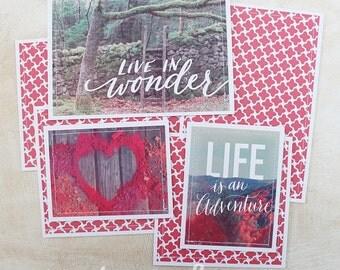 Wonder - Premade Scrapbook Page Sewn Photo Mat Set