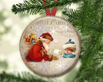 Christmas holiday decorations for Christmas tree - old fashioned Santa Christmas refrigerator magnets - MA-1347