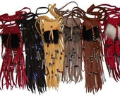RESERVED for Marsha Lot of 6 neck pouches assorted colors furs