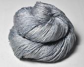 Moonlight shadow OOAK  - Tussah Silk Lace Yarn