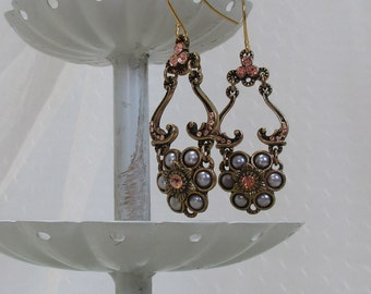 Victorian-Style Earrings, Gold-Filled Earwires, Civil War Appropriate