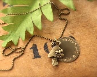 Alice Caterpillar Curiouser and Curiouser Necklace