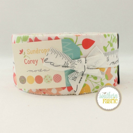 """Sundrops - Jelly Roll by Corey Yoder for Moda - 40 44""""x2.5"""" Quilt Fabric Strips"""