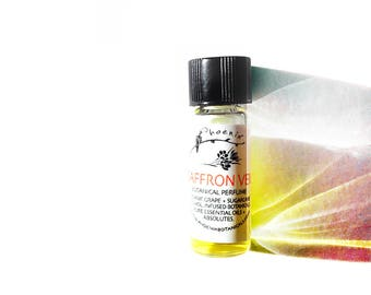 Saffron Veil - Wraps You in Exotic Flowers and Spices, Tuberose, Magnolia Sexy Green Floral - Botanical Perfume - 1 ml sample vial