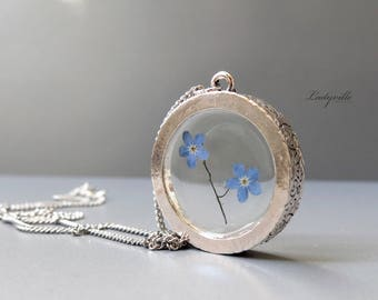 Vintage Necklace - Forget Me Not