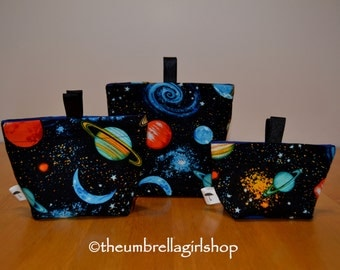 Ready to ship-Space Reusable Snack Bags - Set of 3