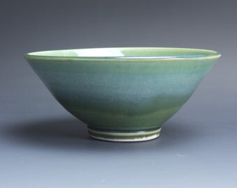 Handmade porcelain soup cereal rice ice cream bowl 2.5 cup jade green 3788