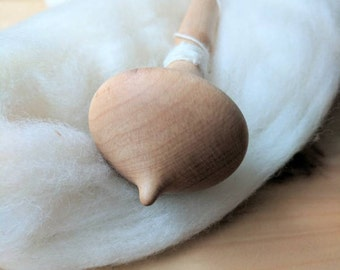 Maple Russian spindle, supported spindle, supported spinning, hand turned