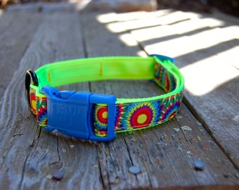 Dog Collar - Psychedelic Sunflowers