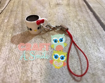 HKitty Coffee Cup Planner Charm/Purse Charm/Zipper Pull