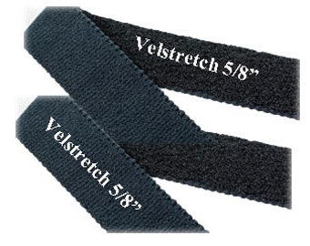 Velstretch Velcro Brand Elastic Stretch Black 5/8 inch