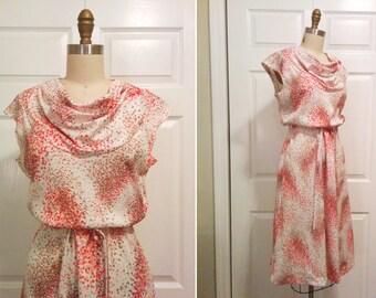 Mid Century Julie Miller Cowl Neck Day Dress