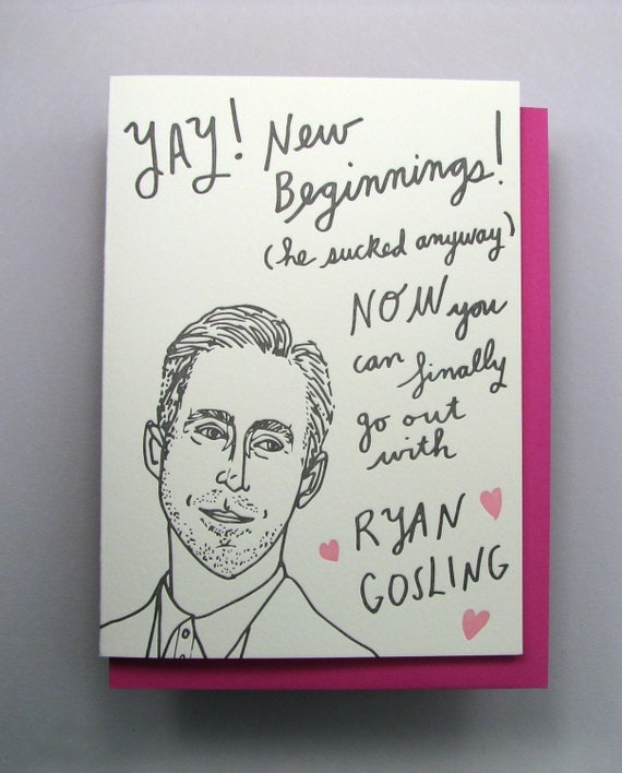 """Letterpress card,  """"Gosling Break-up"""""""
