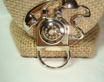 Vintage Reading Glasses Holder Telephone Pin.