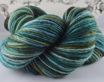 Handspun Yarn Gently Thick and Thin Bulky Single Merino 'Mariana'