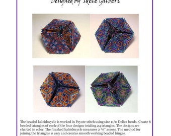 "Beaded Kaleidocycle ""Be Dazzled"""