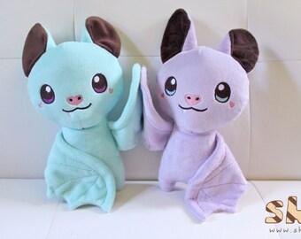 Sweet Toothed Bats Handmade Plush Toys, Kawaii Pastel Bat Plush