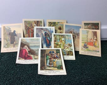 10 Old Sunday School Cards from 30's and 40's