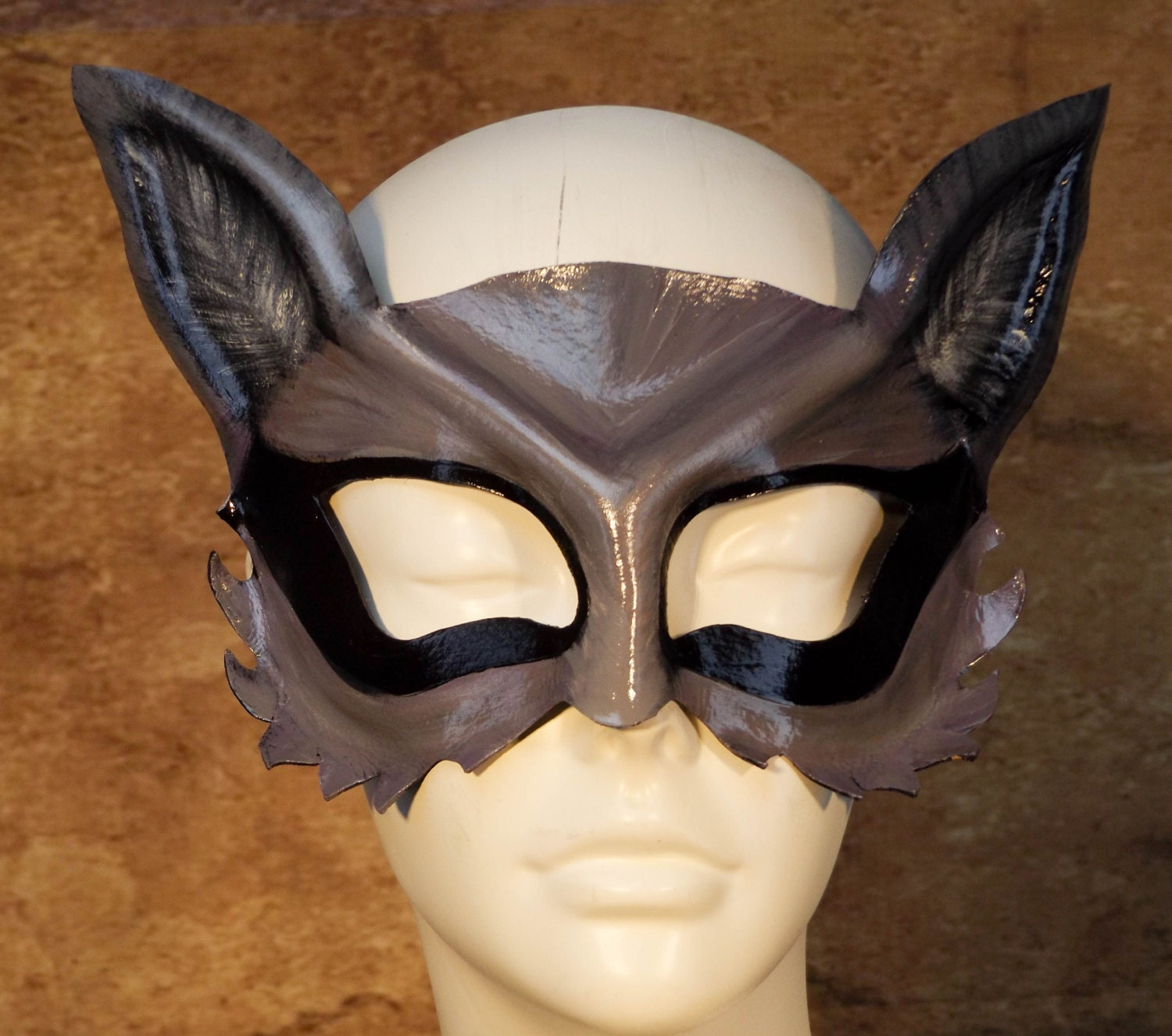 Raccoon Leather Mask Raccoon Eye Mask