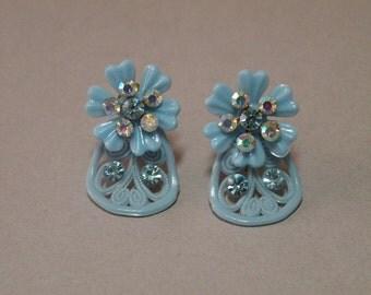 Sky Blue Lace Earrings