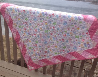 Cutie Pie, Snuggle Time baby quilt