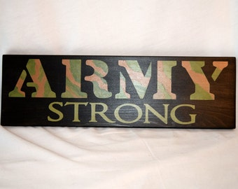 Army Strong Sign, United States Army, Custom Painted Army Sign, Patriotic Wall Art
