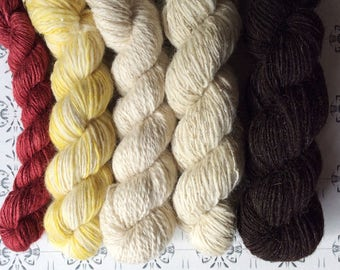 "Guldslottet - The Golden Castle - ""Once upon a time"" collection of handspun yarns"