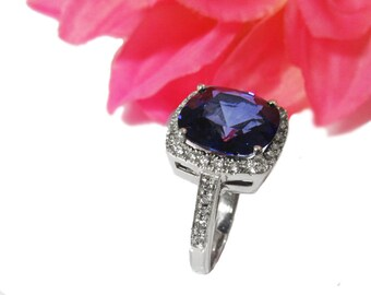 Sapphire Ring 8 carat Engagement Ring September Birthstone Sapphire Engagement Wedding Ring Gemstone Ring Sapphire Jewelry