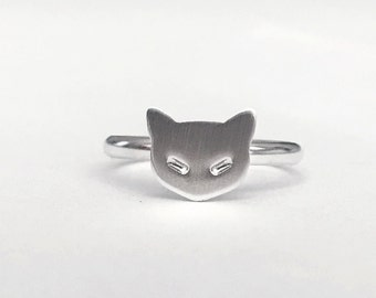 Itty Bitty Kitty Committee Handmade Sterling Silver Ring